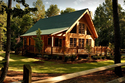 New Southland Log Homes model near Biloxi, MS