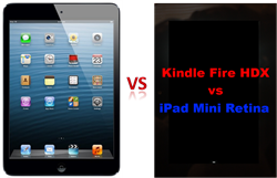 Amazon Kindle Fire HDX vs iPad Mini 2 and iPad Air Comparison