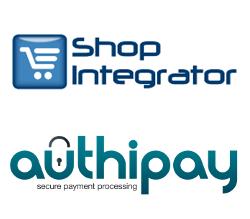 Authipay logo and Shopintergrator logo