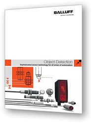 Balluff's new Object Detection Sensor Catalog