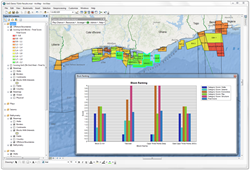 Offshore Petroleum Leases in Team-GIS Exploration Analyst