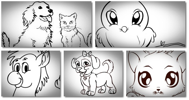 Cute animal pictures to draw step by step for Website where you can draw