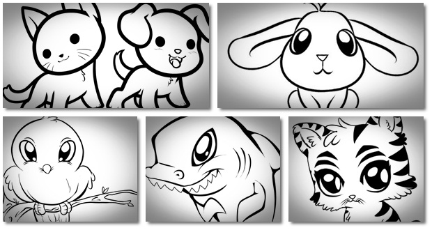 draw cute animals how to draw 200 animals help