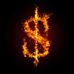 Flaming Dollar Sign
