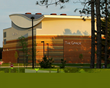 The exterior of Husson University's Gracie Theatre