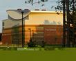 The exterior of Husson University's Gracie Theatre