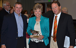 Deyon and Don Stephens were presented a Distinguished Alumni Award by Colorado Mesa University.