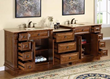 "silkroad exclusive double 95"" Bathroom Vanity, hyp-0904-95"