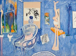 Image of Brett Whiteley My Arm Chair appears for Auction at http://www.menziesartbrands.com/
