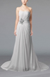 White Simple Destination Sheath Sleeveless Chiffon Appliques Bridal Gowns