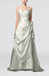 White Fairytale Destination Halter Sleeveless Taffeta Sweep Train Bridal Gowns
