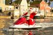 Jet Skiing Santa in Marina del Rey, California