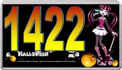 "MagicSign™-1500 for ""Halloween"" with street address ""1422"" as an example"