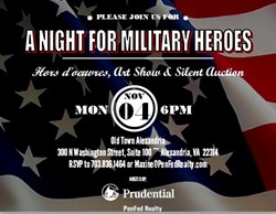 """A Night For Military Heroes"" flyer"