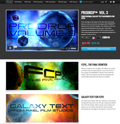 Final Cut Pro X Effects, FCPX Plugin, Apple, Pixel Film Studios, PRODROP, Space, Text, Titles
