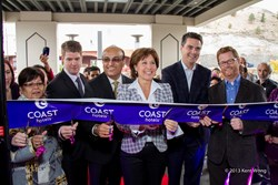 From left to right: Jo-Anne Gottfriedson, Rob Tuck, Ron Mundi, Premier Christy Clark, Todd Stone, and Terry Lake