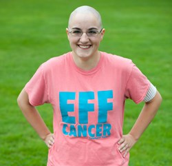 "The ""Eff Cancer"" T-shirt designed by Rachel Morell"