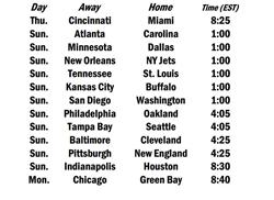 Week 9 Schedule