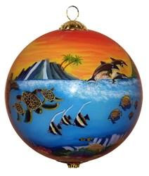 Hawaiian family vacation ornament