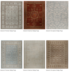 6 of Caravan's Monarch Design Rugs