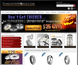 New TungstenWorld.com Wedding Bands & Jewelry Website