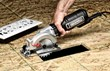 Rockwell Compact Circular Saw's slim, inline grip design provides great comfort, balance and control.