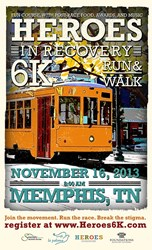 Heroes in Recovery 6k Memphis Poster