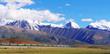 The scenery along Qinghai-Tibet Railway is amazing, snow-capped mountains, vast grasslands, blue sky, flocks of wild animals, etc.