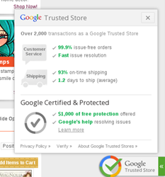 MarkerPOP.com is a  Google Trusted Store