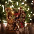 Christmas decor - Gold Sleigh