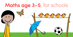 Maths age 3-5, for schools, from EuroTalk
