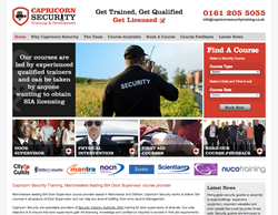 Image of the capricorn security training website
