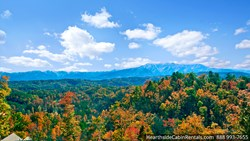 Taken from the deck of one of Hearthside Cabin Rentals spacious Gatlinburg cabins, here visitors can see the vast beauty of the Great Smoky Mountains National Park.