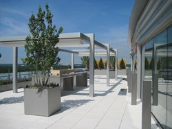 Retractable Rooftop Patio Cover Systems - Metro Park VI project
