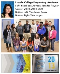 Lincoln College Prep Award Winning Yearbook Staff
