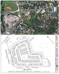 Real Estate Architectural Site Plan: Eastside of Downtown Austin, Texas