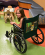 WheelchairPersonalities chair back covers are used in many locations including hospitals. Hospital administrators cite many benefits.