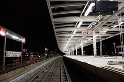 Kenall's Luxtran luminaires on the CTA Red Line South Cermak Station