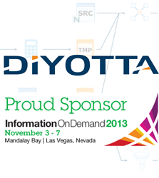 diyotta, elt, etl, proud sponsor, IBM, IOD, data integration, big data, hadoop, netezza, unified, teradata, hadoop, cloudera