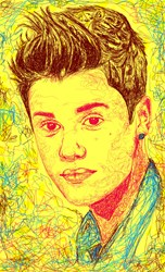 Justin Bieber Drawing In Line