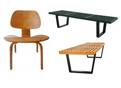 Nelson Style Bench n Plywood Lounge Chair Inspired By Eames