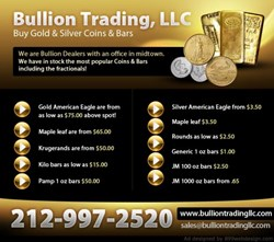 New York's Bullion Trading LLC Flyer