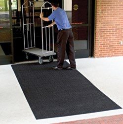 Brush Hog Scraper Mats provide outdoor slip-resistance to commercial building entrances.