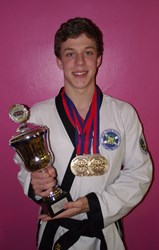 Ciaran Docherty supported by Macrae & Dick wins Tang Soo Do World Championships