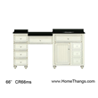 """Sagehill Designs 66"""" Bathroom Vanity with Make-Up Station from Cottage Retreat Collection"""