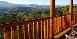 View of Smoky Mountains from Jackson Mountain Homes' Gatlinburg cabin rentals
