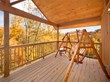 Taken from the balcony of one of Cabin Fever Vacations' spacious Gatlinburg cabins, future guests to the Smokies can see for themselves the relaxing setting the fall leaves create in the Smokies.