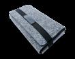 Portable Charging Folio with Battery (Marled Felt)