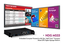 NDiS M533 - Embedded Computer Powered by 4th Generation Intel® Core™ Processor Based OPS Digital Signage Platform, Support 4K Resolutions
