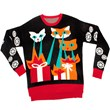 Lazer Cat-zillas Ugly Holiday Sweater from Stupid.com